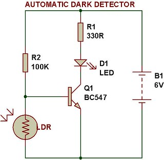 darkness detector circuit diagram
